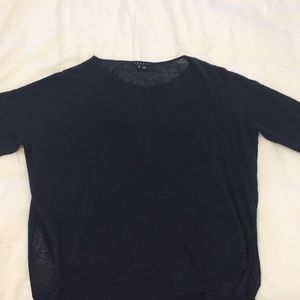Theory mid sleeve sweater top